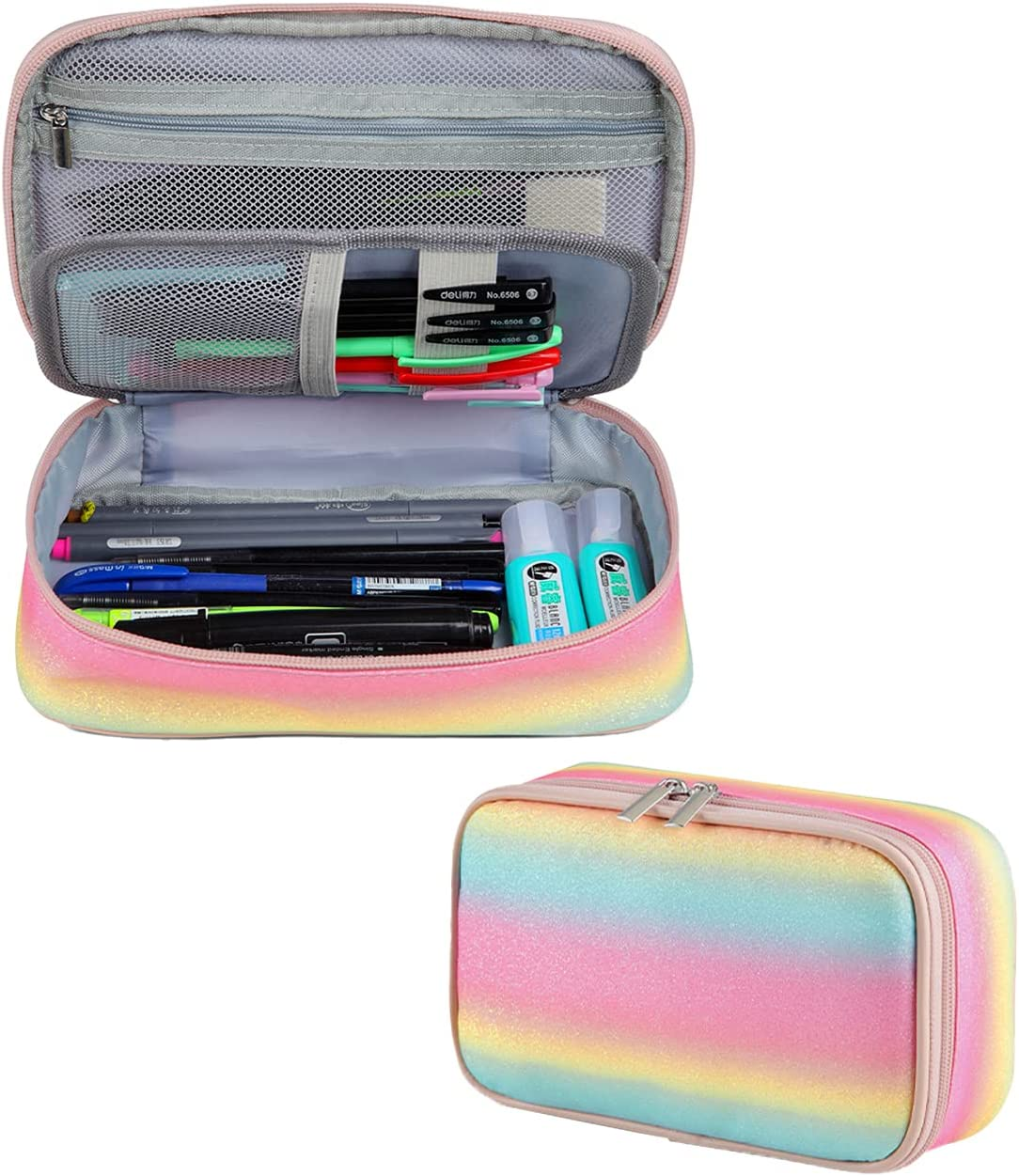 Pencil Case Vaschy Large Capacity OFFicial Pen Holder Z with Pouch Double All items in the store