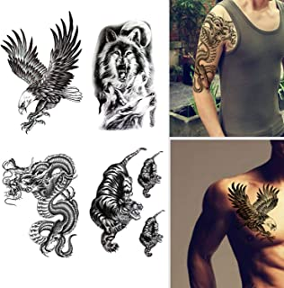 Amazon Com Face Tattoos For Men