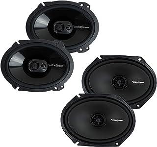 Rockford Fosgate 2 P1683 130W & 2 R168X2 110W 6x8 Speakers