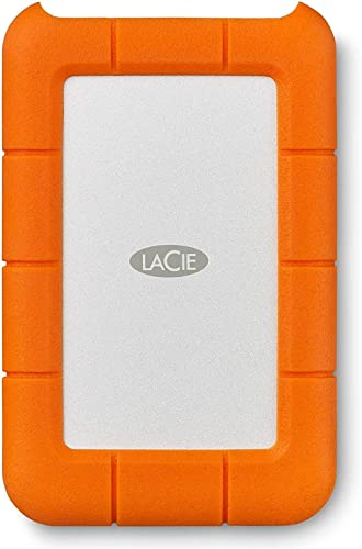 LaCie Rugged USB-C 2 TB External Hard Drive Portable HDD – USB 3.0 Compatible, Drop Shock Dust Rain Resistant, for Ma...