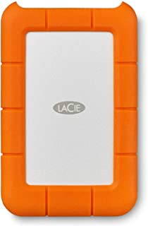 LaCie Rugged USB-C 2 TB External Hard Drive Portable HDD – USB 3.0 Compatible, Drop Shock Dust Rain Resistant, for Mac and...