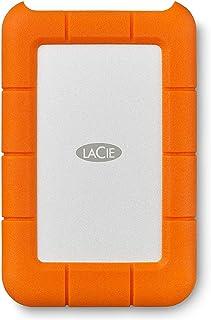 LaCie STFR4000800 4 TB Rugged Mini USB 3.1 (USB-C + USB 3.0) Portable 2.5 Inch Shock, External Hard Drive for PC and Mac