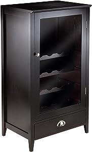 Winsome Wood 20-Bottle Shelf Modular Bordeaux Wine Cabinet