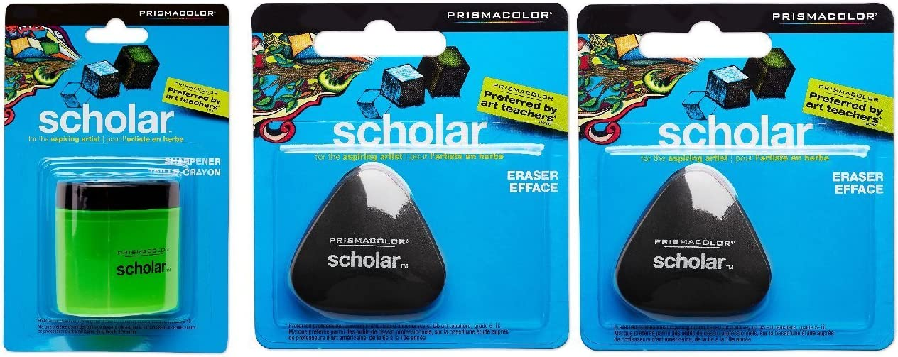 Prismacolor free shipping Mail order Scholar Colored Pencil Erasers Two Sharpener