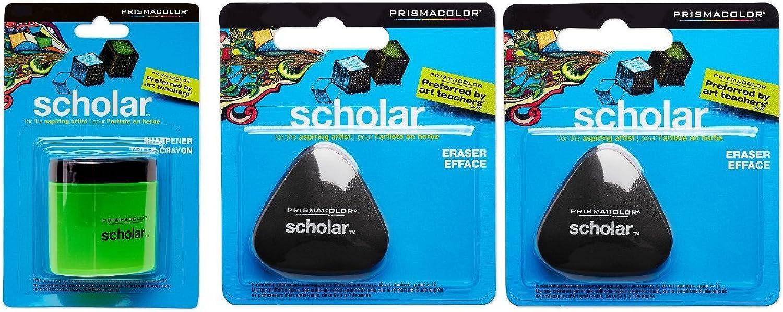 PrismaFarbe Scholar Bleistiftspitzer und zwei Radiergummis B0161Q1KC8      Attraktiv Und Langlebig