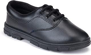 Earton School Shoes, Lace-Up PVC Shoes for Boys (1202)