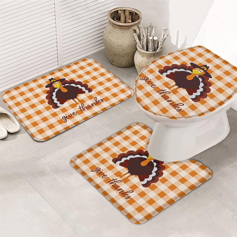 3 Piece Bathroom Rugs Set Ultra Soft Non Las Vegas Mall Slip Rug Contour Free shipping on posting reviews Bath