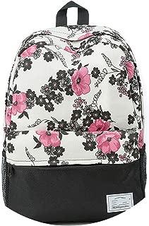 Backpacks Floral Print Bookbags Canvas Backpack School Bag For Girls Rucksack Female Travel Backpack,802nd