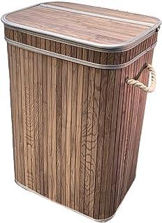 osoltus - Cesto para la ropa sucia (bambú, 3 tamaños), color gris