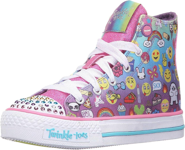 Skechers Kids Twinkle Toes Shuffles Top Sale Lighted Li High Max 89% OFF Sneaker