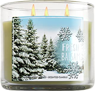 Bath & Body Works, 3-Wick Candle, Fresh Balsam