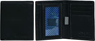 Hendon Full-Grain Leather Anti-Theft RFID Bi-Fold Wallet with SD Card Slots & Hidden Coin Pocket