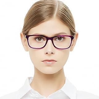 c8144feb736 OCCI CHIARI Womens Rectangle Stylish Eyewear Frame Non-Prescription Clear  Eyeglasses