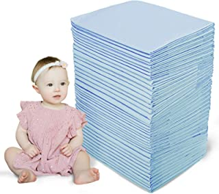CHILDREN'S GANG 100 Pack Baby Disposable Changing Pad Super Soft Ultra Absorbent Cotton Pet Training Pads Changing Pads fo...
