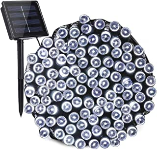 Toodour Solar String Lights 72ft 200 LED 8 Modes Solar Powered Fairy String Lights Waterproof Solar Garden Lights for Patio, Home, Wedding, Party, Xmas(White)