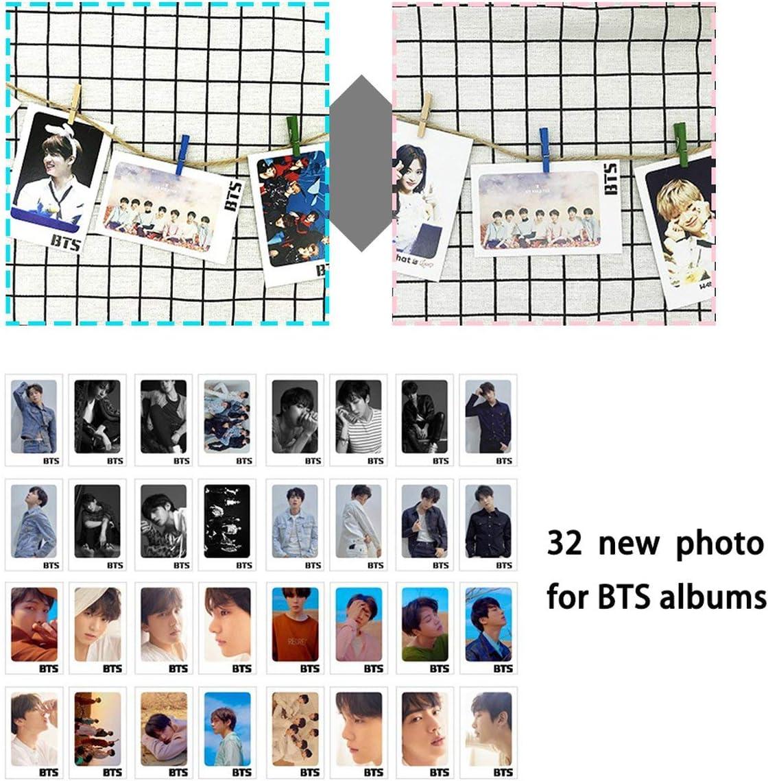 Kongqiabona-UK 32 Pcs//set KPOP BTS Bangtan Boys LOVE YOURSELF Tear Album Photo Card PVC Cards Self Made LOMO Card Photocard