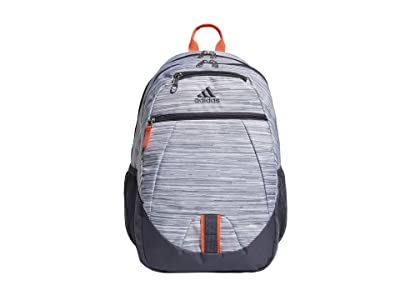 adidas Foundation V Backpack (Looper White/Solar Red/Onix) Backpack Bags