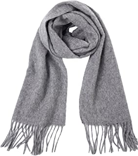 Dolcevida Men's Warm Cashmere Scarves Wool Wrap Fashion Plaid Scarf