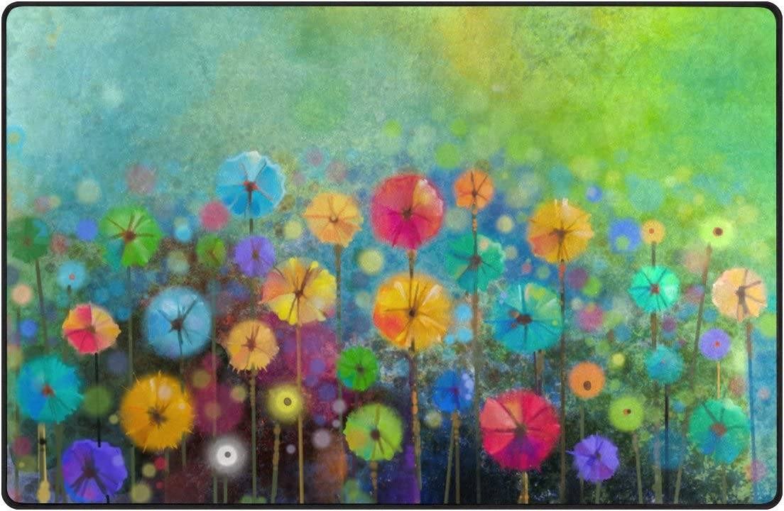 ALAZA My 35%OFF Daily Abstract Floral Watercolor Daisy Ar Spring Flower お買い得品