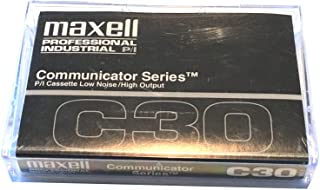 Maxell C30 - Communicator Series - Blank Audio Cassette Tape - 3 Pack