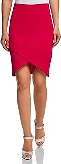 oodji Ultra Women's Jersey Skirt with Asymmetric Hem
