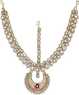 Zaveri Pearls Hair Jewellery for Women (Golden)(ZPFK6984)