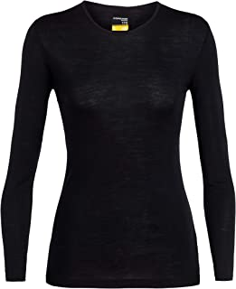 Icebreaker Merino Women's Wmns 175 Everyday LS Crewe, Black, L