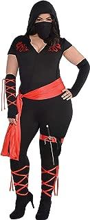 AMSCAN Adult Dragon Fighter Ninja Costume, Plus XXL (18-20), 7 Count