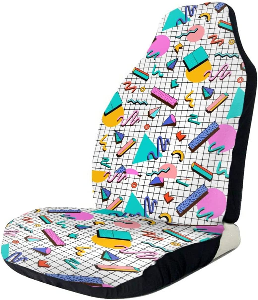 Car Seat Cover Vintage 80s Co Great interest Triangle Driver 90s OFFicial mail order Rectangle