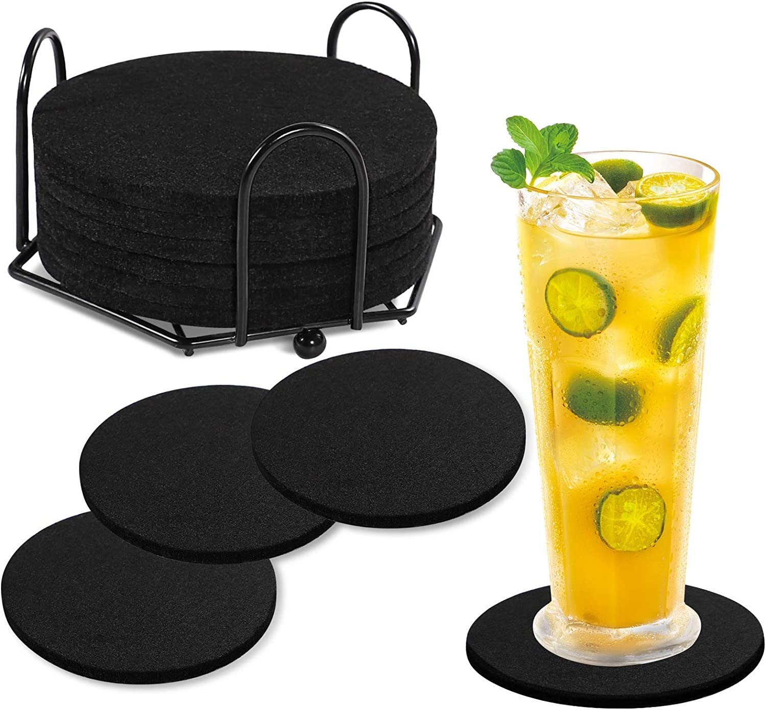 Sale Special Price Tikea Felt Coasters Round - Bar Absorbent Be super welcome a 8PCS Drink