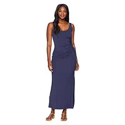 Tommy Bahama Tambour Shirred Maxi Dress (Ocean Deep) Women