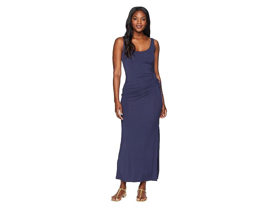 Tommy Bahama Tambour Shirred Maxi Dress (Ocean Deep) Women