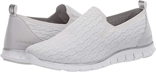 Glacier Grey Metallic Knit/Optic White