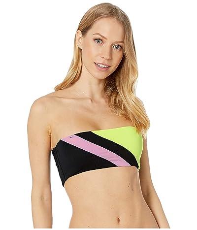 Maaji Moonlit June Reversible Bandeau Bikini Top (Artemis Black Rib) Women