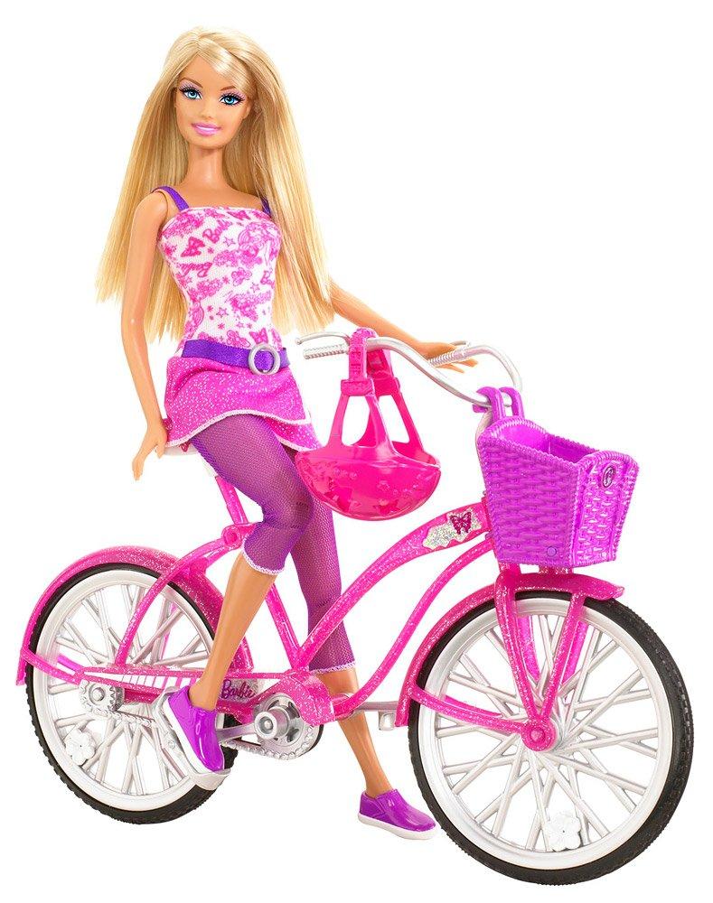 Mattel T2332-0 - muñeca Barbie con la bicicleta glamour: Amazon.es ...