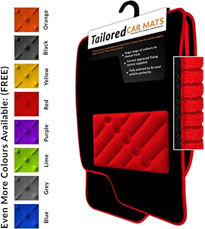 Weld-Wide Carpet Car Mats – Black Carpet – Red Trim – Red REC HP (836)