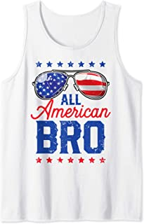 All American Bro 4th of July Men Family Matching Sunglasses Tank Top