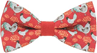 Red Fire Rooster bow tie Chinese New Year pre-tied unisex shape