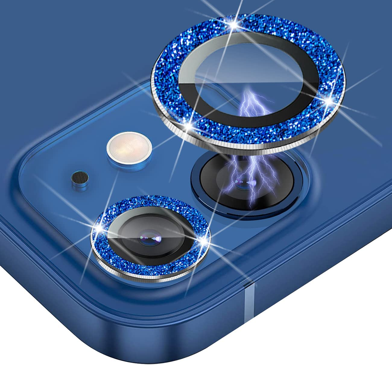 JOLOJO Bling Camera Lens Protector Compatible for iPhone 12(6.1