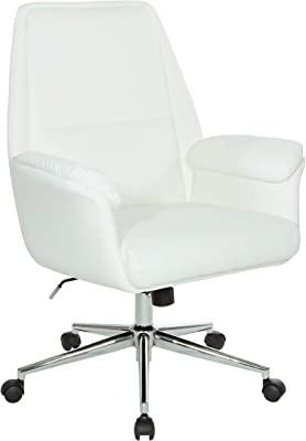 OSP Home Furnishings Glenview Office Chair, White