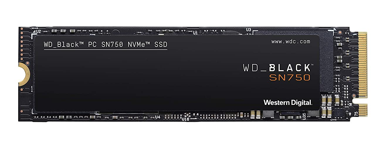 WD BLACK SN750 500GB NVMe Internal Gaming SSD - Gen3 PCIe, M.2 2280, 3D NAND - WDS500G3X0C