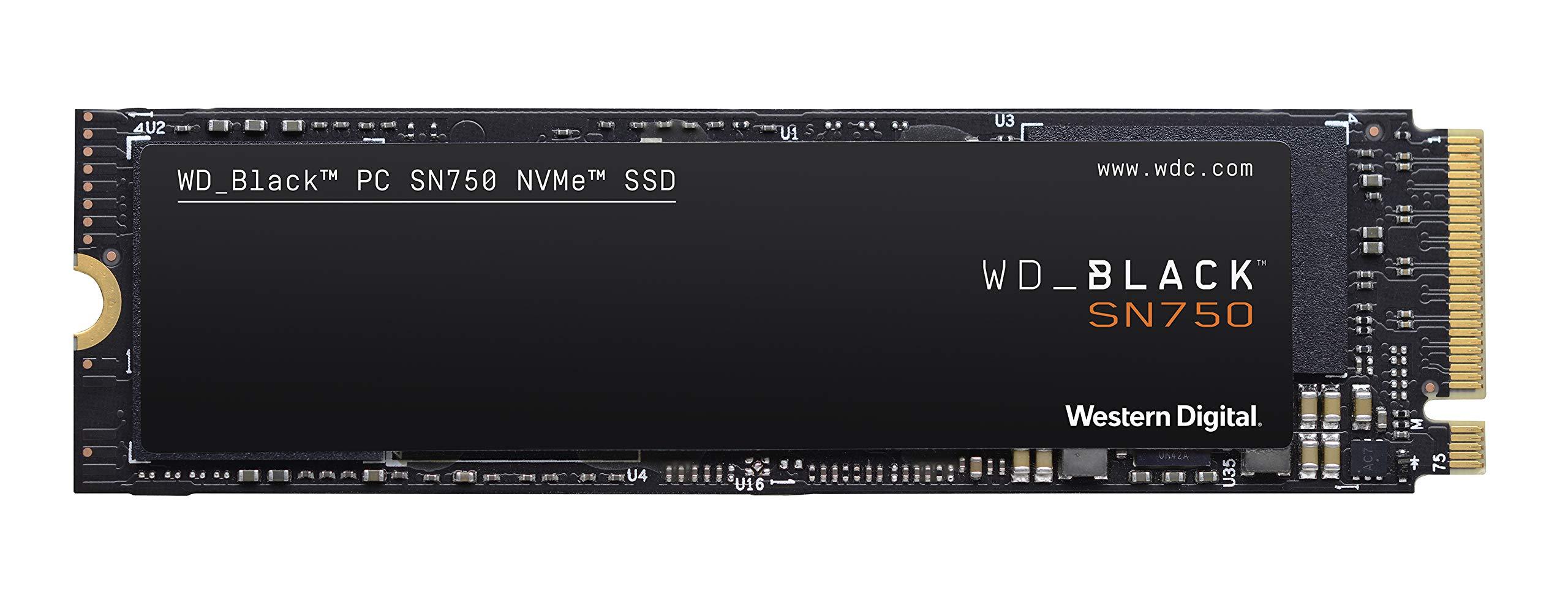 WD 블랙 SN750 500GB/1TB NVMe SSD - Gen3 PCIe, M2 2280, 3D NAND - WDS500G3X0C