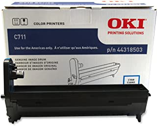 Oki Data 44318503 Image Drum for C711 Series Printers, 20000 Page Yield, Cyan