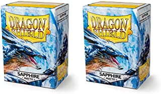 Dragon Shield Matte 200, Sapphire Manga de la Tarjeta (2 Packs, 2x100) para TCGs Pokemon MTG Magic