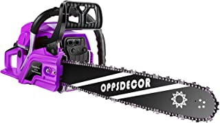 OppsDecor 62CC Engine Petrol Chainsaw, 20 Inch Cordless Chain Saw Gasoline Powered Handheld Saw, 2 Stroke Gas Chainsaws wi...