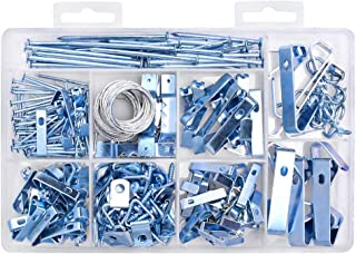 HangDone Picture Hangers Assortment 250-Pieces Assorted Sizes, Zinc Plated