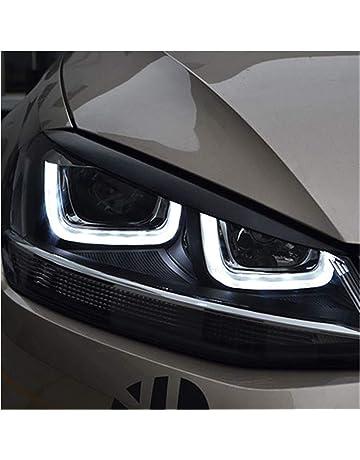 GUOLIANG Palpebre Anteriori Faro dellautomobile Sopracciglia Palpebre ABS Adesivi Disposizione della Copertura della Compatibile Compatibile for BMW X5 E70 Vecchio 2010~2012