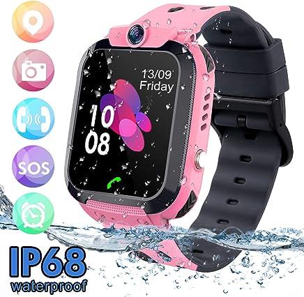 bhdlovely Montre GPS Enfant Tracker Étanche Telephone Montre Connectée Enfant Fille Garçon LBS SOS Smart Watches