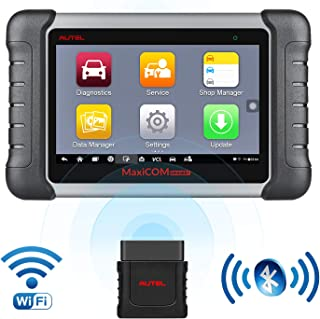 Autel Scanner MaxiCOM MK808BT Diagnostic Tool, Upgraded Version of MK808, with MaxiVCI Supports Full System Scan & IMMO/EPB/SAS/BMS/TPMS/DPF, Bi-Directional Control, ABS Auto Bleed Function