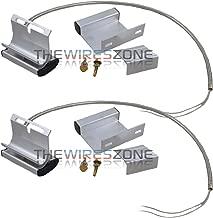 2 Pack Overhead Garage Door Floor Alarm Switch Contact Sensor Track Mounted